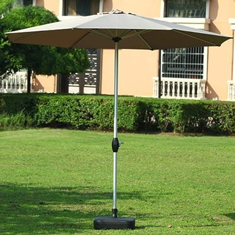 GYC Parasol de jardín portátil al Aire Libre, sombrilla de sombrilla de 2.7 m, protección UV, Compacto para Espacios pequeños de Patio: Amazon.es: Deportes y aire libre
