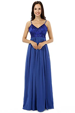 Butalways Long Prom Dress Gown oyal Blue Formal Evening Dress Party Dress (0)