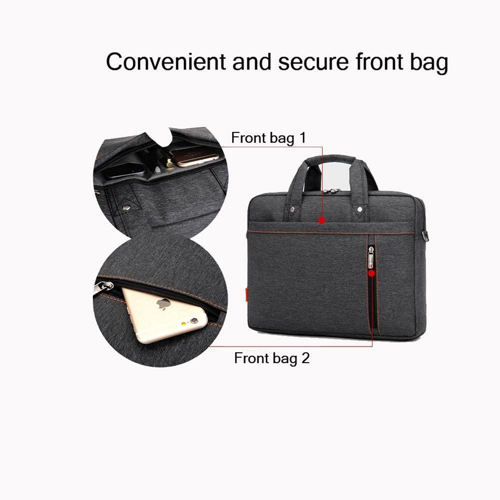 black 3 ZGSP Laptop Package Waterproof Nylon Shoulder Laptop Bag Expand 17 inches Band Adjustable Strap with Handle Within the Band Shockproof Airbag