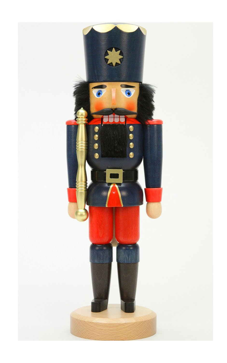 Alexander Taron Christian Ulbricht Decorative Blue Soldier Nutcracker