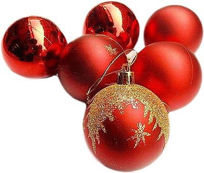 Sandblasting Plating Ball 6 Cm 6pcs Christmas Tree Ball Ornaments for Christmas