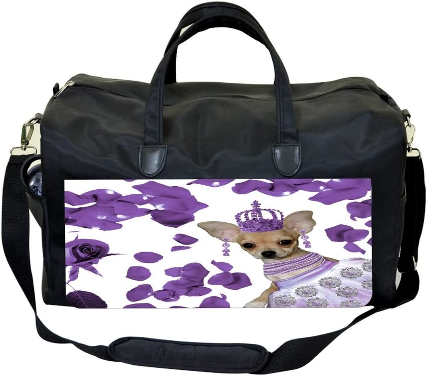 Jacks Outlet Chihuahua Dancer with Purple Petals Sports Bag