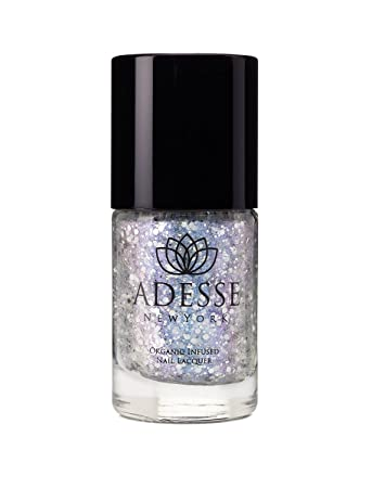 Adesse New York Organic Infused Glitter Nail Polish, Fast Drying and Chip  Resistant Polish, Ultra...