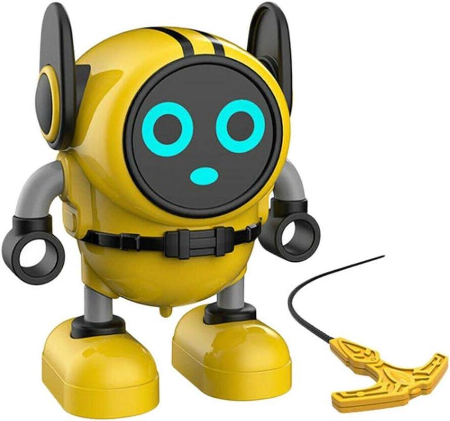 LG&S Novedad Robot Gyro Toy Spinning Top Mini Robot Pull Back Car Toy Gyro Battling Game Tops para Niños Navidad/Regalo De Cumpleaños,Amarillo: Amazon.es: Hogar