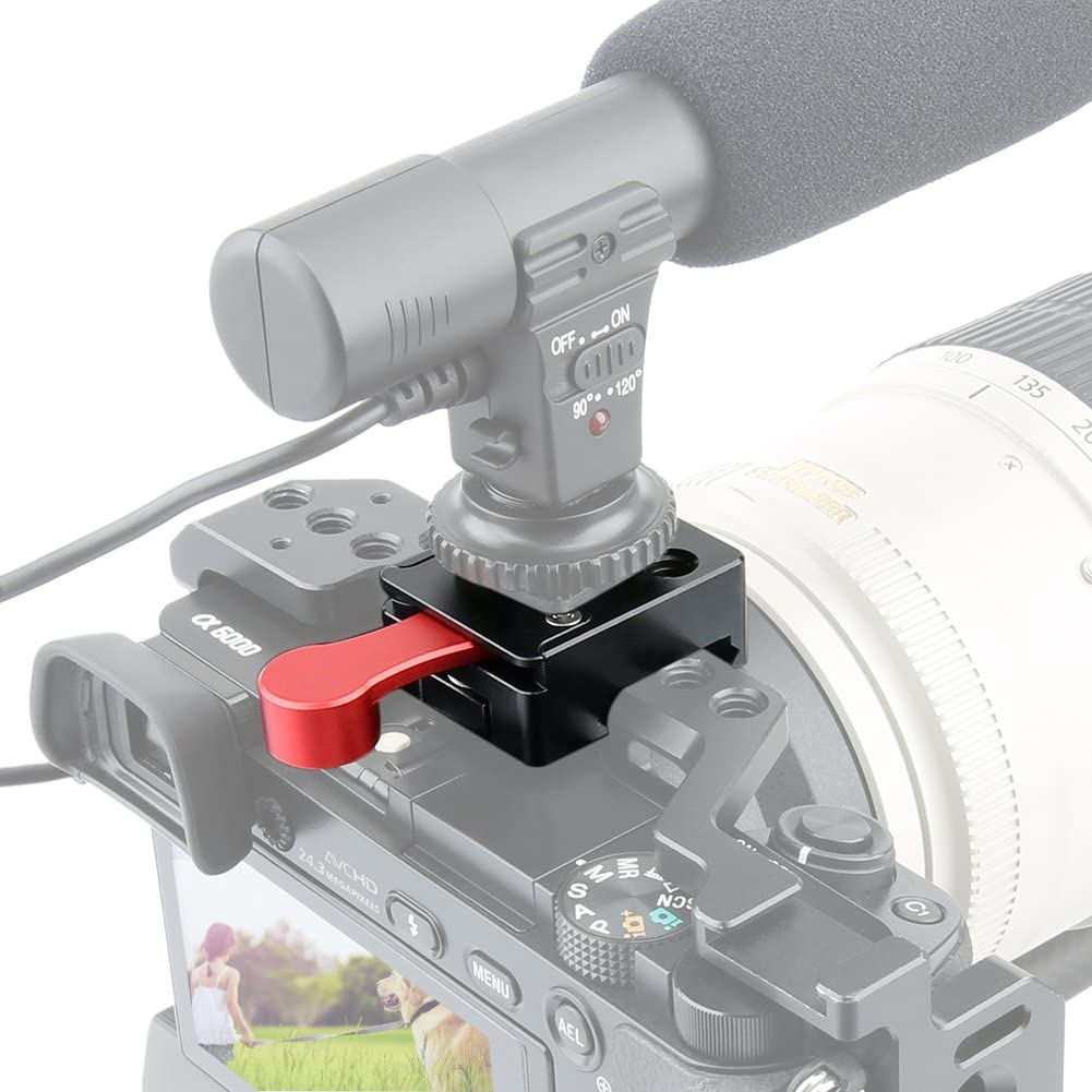 NICEYRIG NATO Lock Clamp with Quick Release Safety Rail 7cm for LED Video Light Monitor Microphone