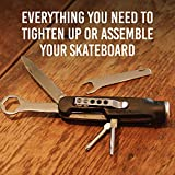 Skateknife All-in-One Skate Tool Pocket Knife Heavy Duty Skateboard Tune Up Assembling Tools