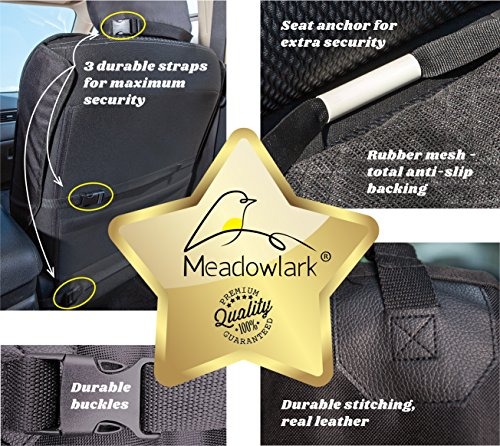 Meadowlark® Car Seat Cover for Dogs. Premium Extra Thick Quilted Full Protection Front Seat Protector, Side Flaps, Waterproof, Durable, Nonslip Design, Free Bonus- Pet Seat Belt & Headrest Protector 6