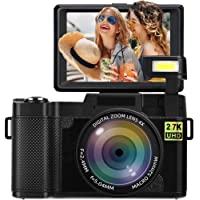 Digital Camera Vlogging Camera 2.7K 24MP Full HD Camera for YouTube 3.0 Inch 180 Degree…