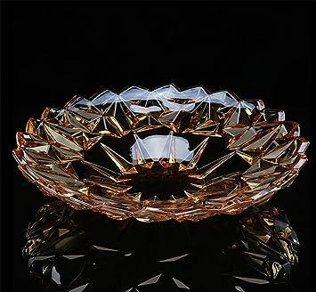 UabpT Tazón de Fruta Moderno Placa de Fruta de Cristal cristalina Creativa de Alto Grado más Gruesa Placa de Fruta (tamaño : 1): Amazon.es: Hogar