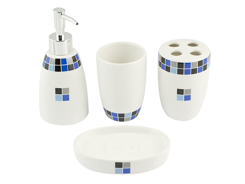 Home Lilly Set da Bagno, Ceramica, Avorio 8003512528316 accessori; il; bagno