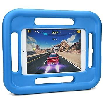 Funda para niños ultra resistente Grabster de Cooper Cases(TM) para Apple iPad Mini 2 / 3 en Azul (Absorción de impactos, a prueba de golpes; ligera, ...