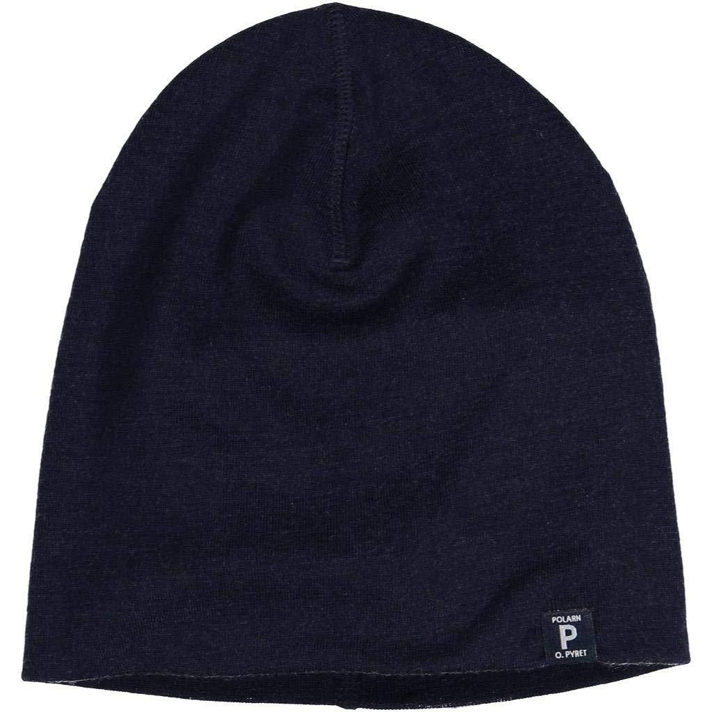 9-12YRS Polarn O Pyret Merino Wool Long SHOREMAN HAT
