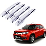 Auto Pearl Chrome Door Handle Latch Cover for Maruti Suzuki Vitara Brezza (Set of 4)