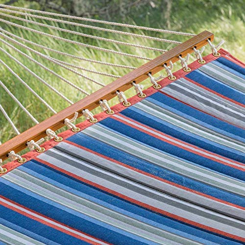 East Coast Hammocks Large Polyester Quilted Hammock - Red and Blue Stripe