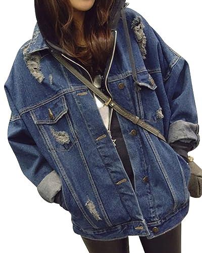 Suelto Chaqueta De Mezclilla Denim Jacket Para Mujer