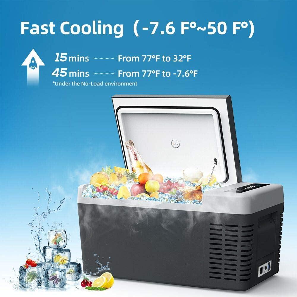 Travel,Truck for Camping Mini Car Fridge Freezer -7.6℉~50℉ JoyTutus Car Refrigerator 20 Quart Boat and Home with12//24V DC and 110-240 AC 18 Liter