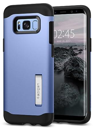 spigen Funda Galaxy S8 Plus, Carcasa [Slim Armor] Tecnología de cojín de Aire y protección híbrida de caída para Galaxy S8+ (2017) - Coral Azul