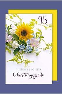 90 Geburtstag Karte Grußkarte Feste Glück Gold Foliendruck 16x11cm