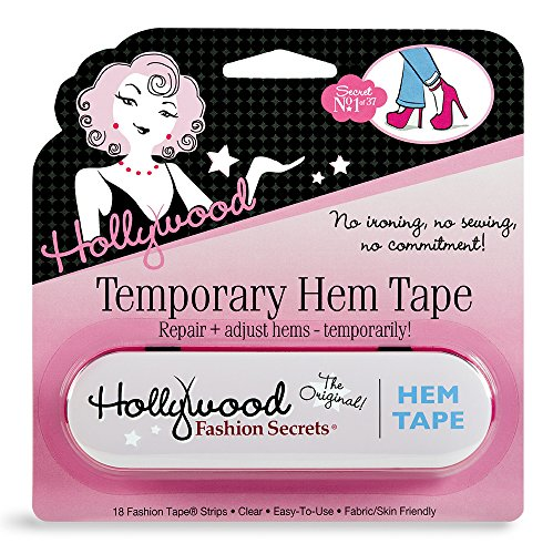 Hollywood Fashion Secrets Temporary Hem Tape, 18 fabric friendly adhesive tape strips ()