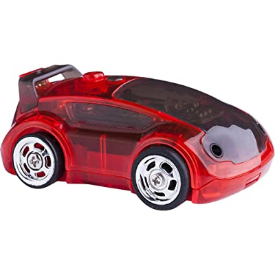 Desk Pets CarBot Fast & Furious Micro Robotic RaceCar Remote Control Toy - Red: Toys & Games