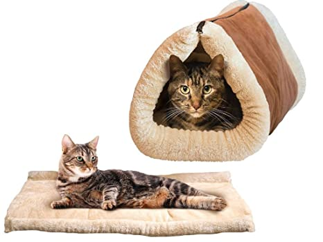 TataYang Deluxe - Alfombrilla y Cama para Gato 2 en 1, Cama Grande para Mascotas