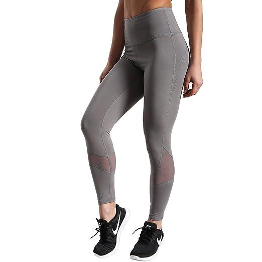 2ea0c07b4b26 BIGSHINE Fitness High Waist Power Athletic Gym Workout Mesh Stitching Yoga  Pants Black Leggings for Women