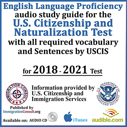 US Citizenship test audio study guide with all English Vocabulary and assembled sentences required for the Naturalization exam by USCIS