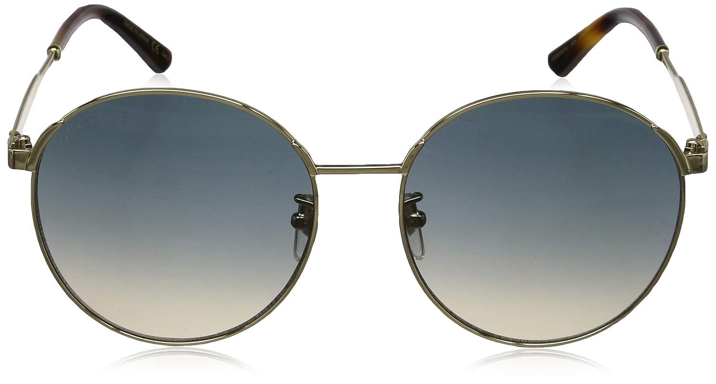 c32090e707e Amazon.com  Sunglasses Gucci GG 0206 SK- 005 GOLD   BLUE  Clothing