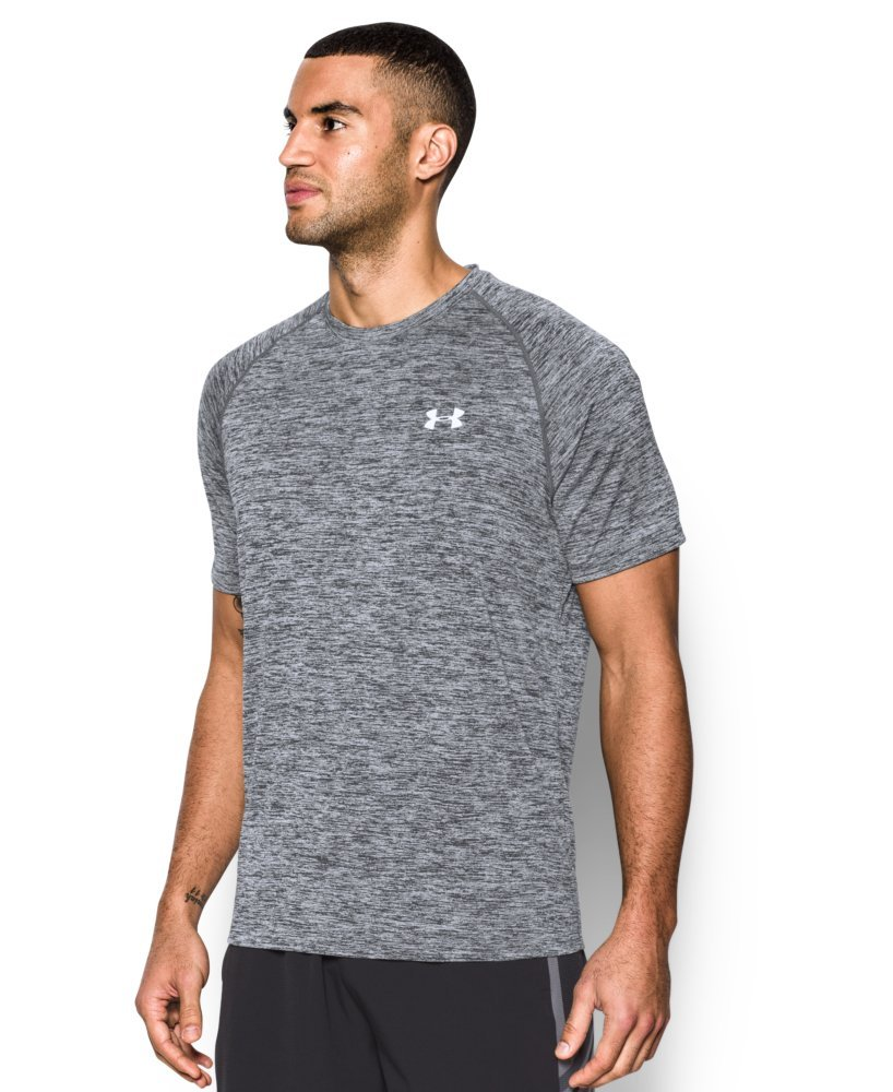 Under Armour Men's Tech Short Sleeve T-Shirt, Black /White, XXXX-Large Tall by Under Armour (Image #2)