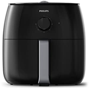 Philips HD9630/98 Avance XXL Twin Turbostar Airfryer (3lb/4qt), Black (Renewed)
