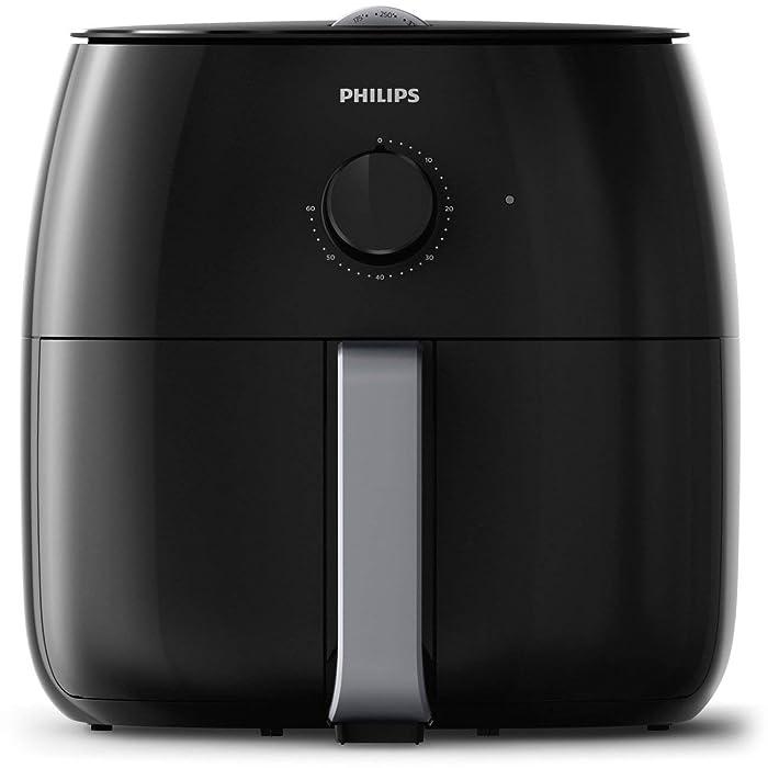 Philips HD9630/98 Avance XXL Twin Turbostar Airfryer (3lb/4qt), Black (Renewed)