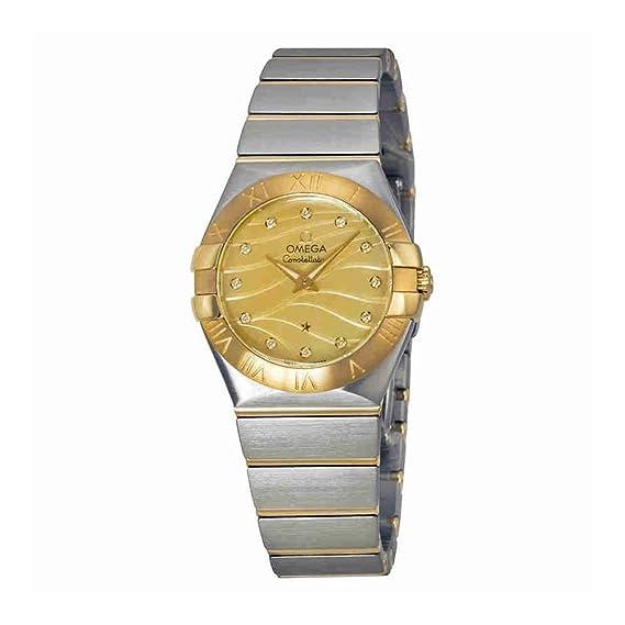 OMEGA RELOJ DE MUJER CUARZO SUIZO 27MM CORREA DE ACERO 12320276057001: Amazon.es: Relojes