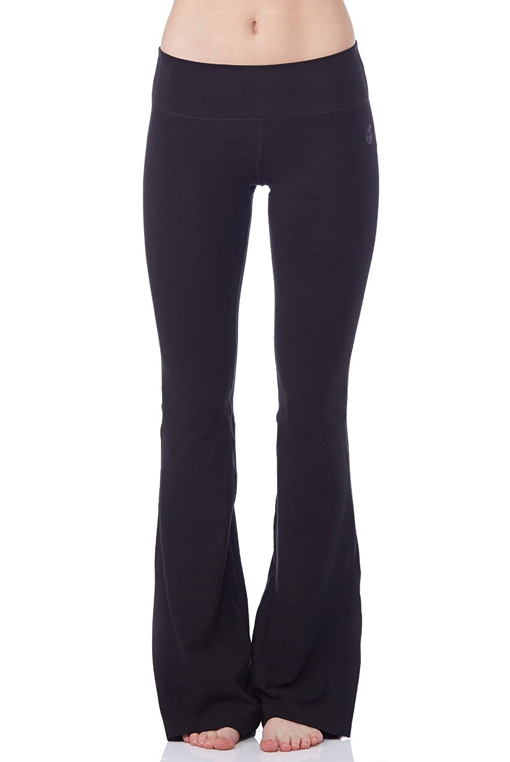 "new arrivals buy online rich and magnificent Green Apple Womens Active - 33"" Stretch Bamboo Fitted Bootcut Yoga Pant –  S, M, L,"