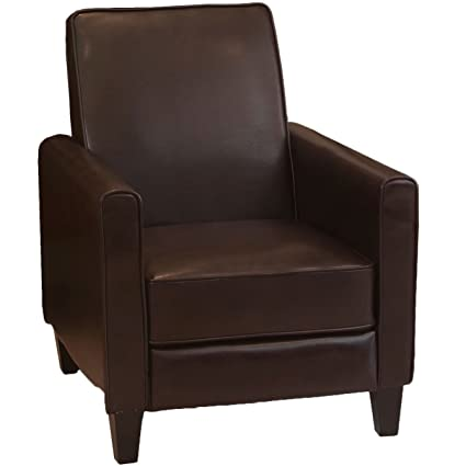 Merveilleux Rodgers Leather Recliner Club Chair (Brown)
