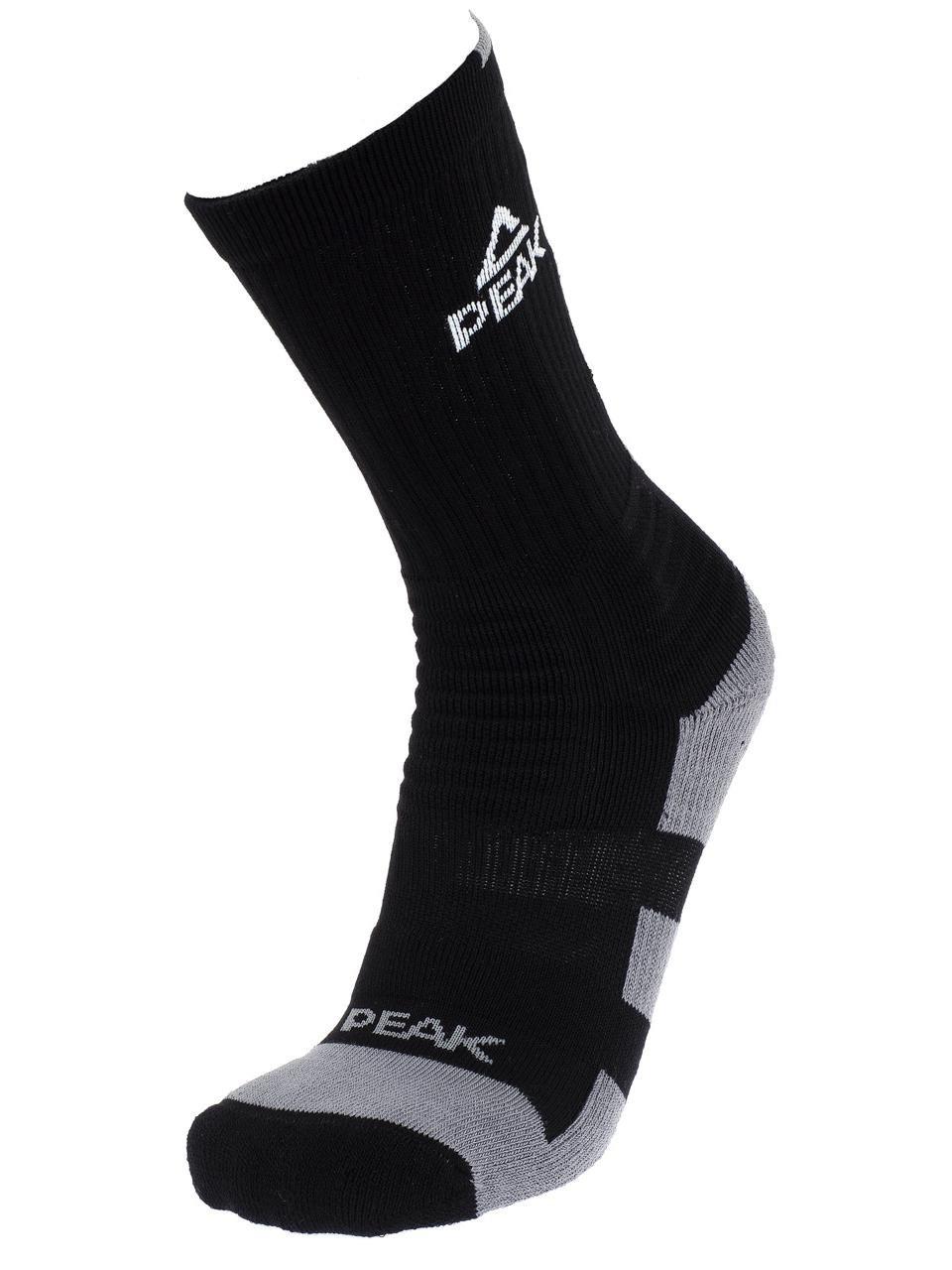 PEAK Chaussettes hautes Pro - Noir et gris: Amazon.es: Deportes y ...