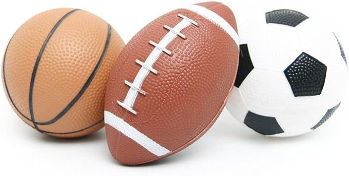 YIJIAOYUN Set de balones Deportivos para niños (Baloncesto, Fútbol ...