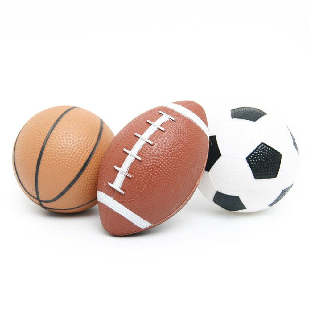 HAPTIME Sports Balls Set Kids (Football Basketball Soccer) / Fun Outdoor Toys