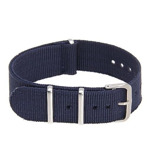 24 opinioni per Cinturino Regolabile in Tela Blu Scuro per Orologio da Ricambio