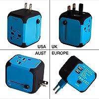 Adaptador Enchufe de Viaje Universal Dos Puertos USB