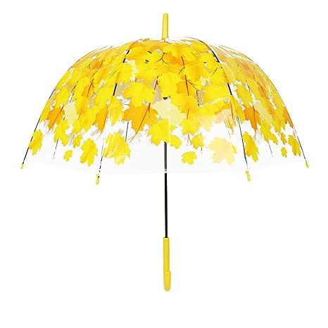 Paraguas de la Cereza, Románticas Paraguas de Burbujas Transparentes y Diseños Florales, Diseño de