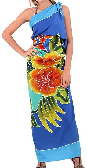 d605868522 LA LEELA Rayon Swimwear Women Wrap Sarong Printed 78 quot X43 quot  ...