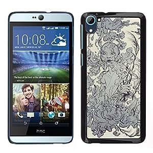 "For HTC Desire D826 Case , Elementos agua Naturaleza Tierra Diosa de humo"" - Diseño Patrón Teléfono Caso Cubierta Case Bumper Duro Protección Case Cover Funda"