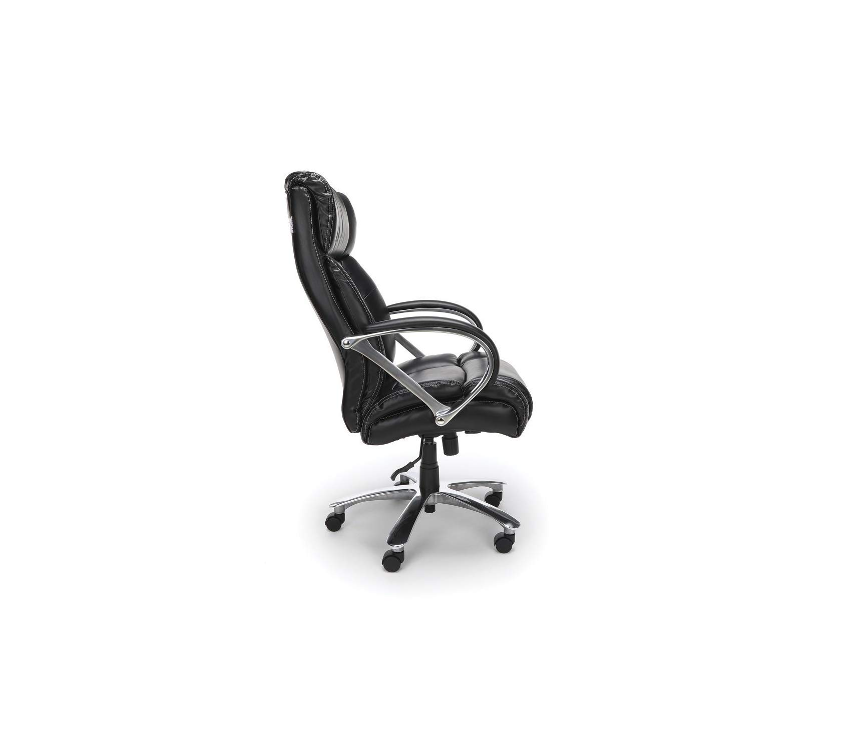 Оfm Avenger Series Big and Tall Leather Executive Chair - Black Computer Chair with Arms, Black/Chrome by Оfm (Image #3)
