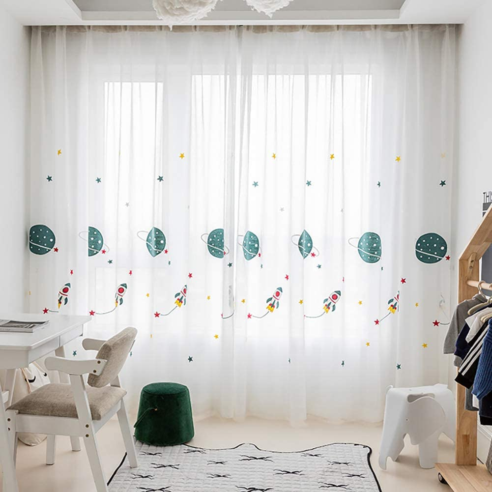 L S Vorhang Kinderzimmer Junge Fussball Muster 140x160