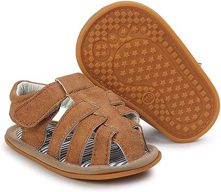 YWLINK 1 Par De Zapatos Bebé NiñOs Sandalias Zapatos Casuales Zapatilla Antideslizante Suela Suave NiñO Sandalias De Bebé A Rayas Ocio CóModo