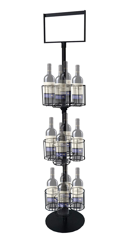 FixtureDisplays Wine Bottle Rack Liquor Rack Wire Metal Champagne Display Bar Storage Stand 19414!