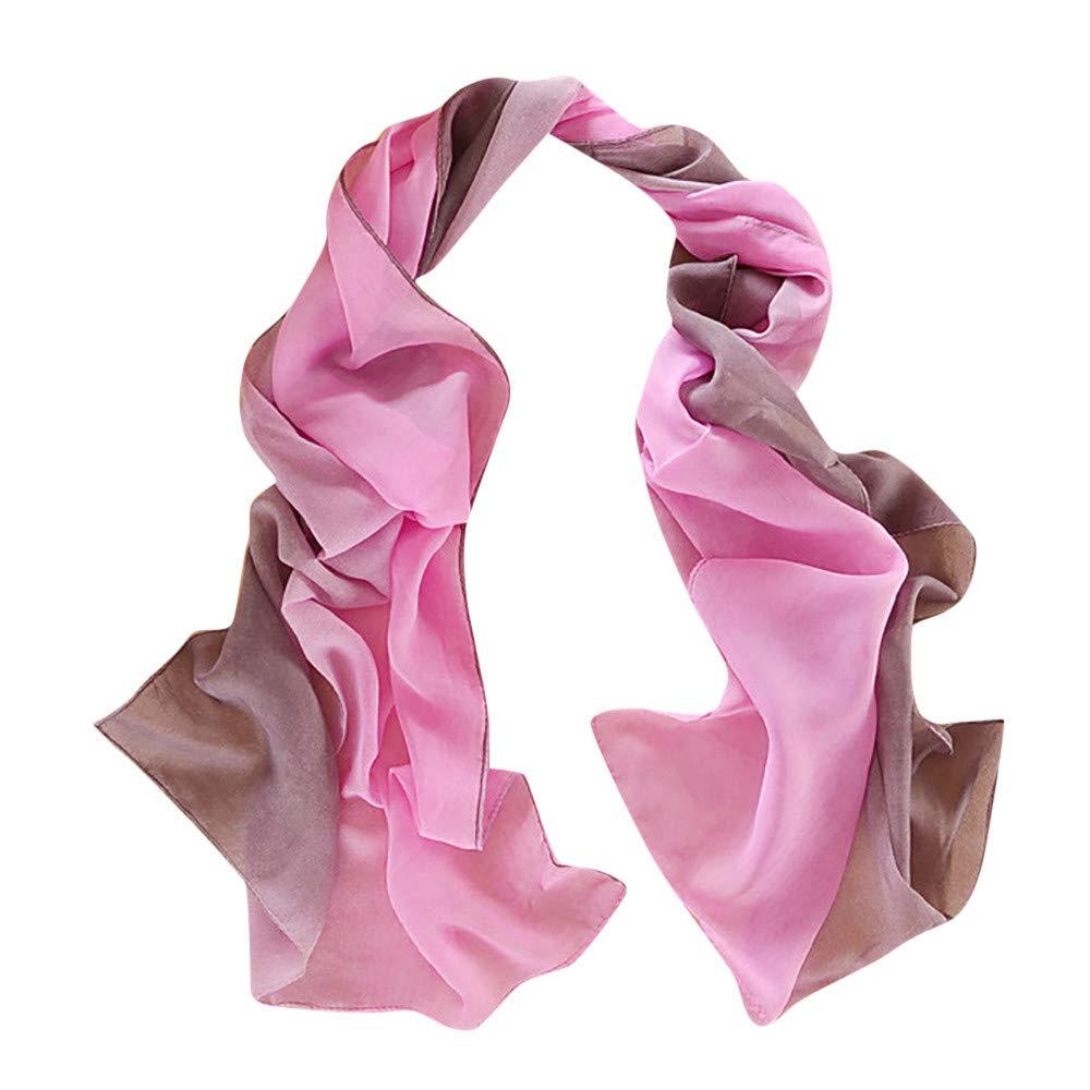 iYBUIA 2018 New Women Gradient Printing Scarf Fashion Female Beach Multi-Purpose Shawl Scarf (One Size, F)