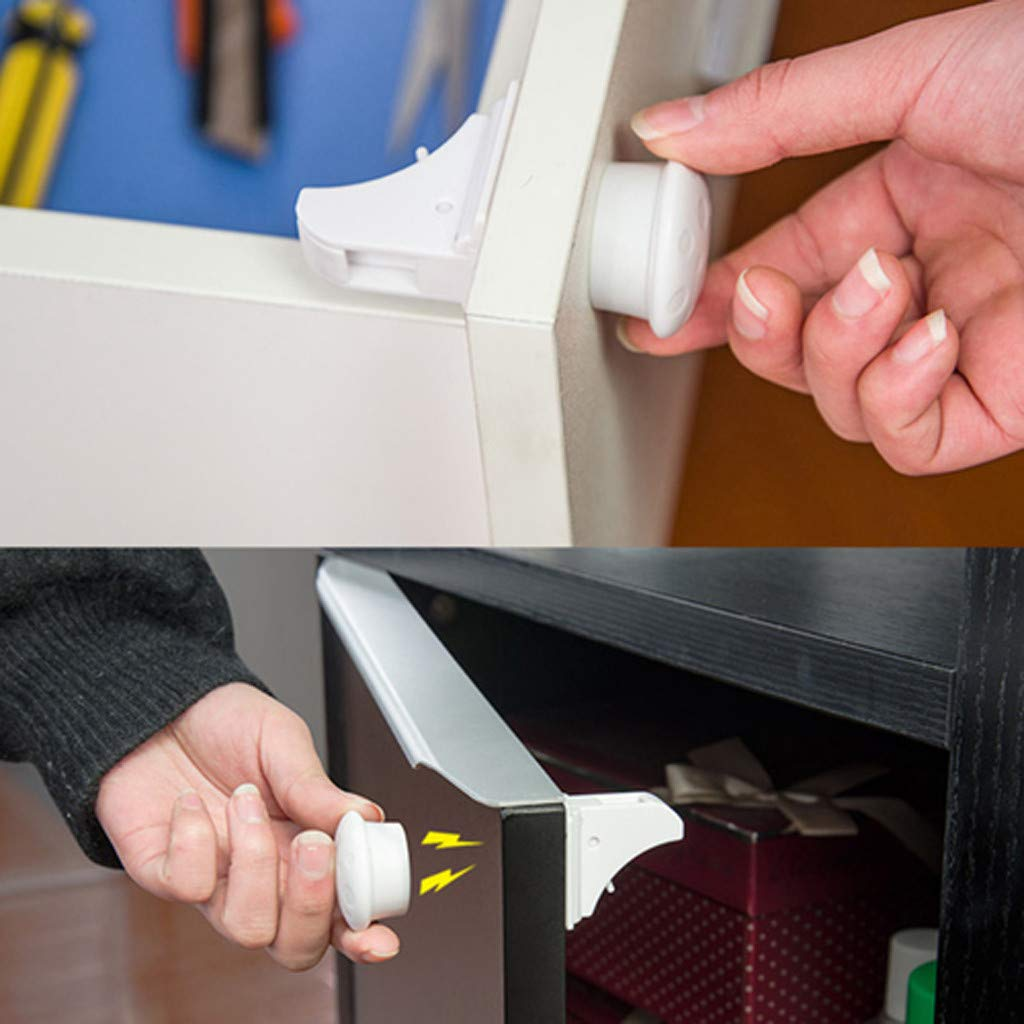 Tpingfe Child Safety Magnetic Cabinet and Drawer Locks for Proofing Kitchen 12 Pack Child Latches