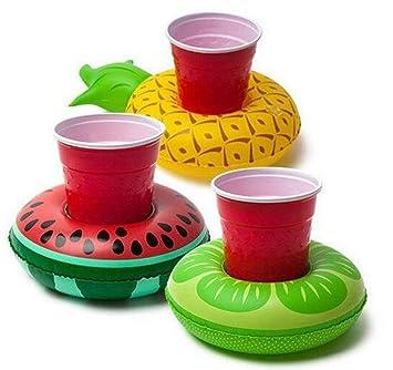 Mattelsen 3 Pcs Posavasos de Flotador Fruta Bebida Inflador ...