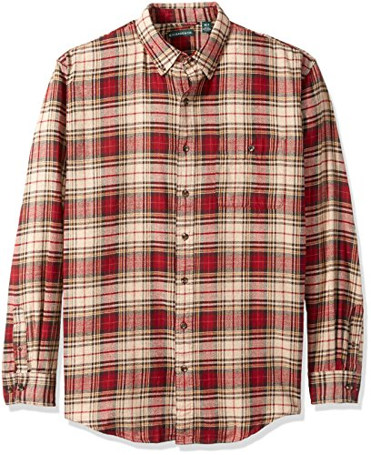 G.H. Bass & Co. Men's Big and Tall Fireside Flannel Long Sleeve Button Down Shirt, Oyster Gray HEA, 3X-Large
